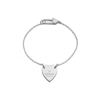 gucci trademark heart bracelet