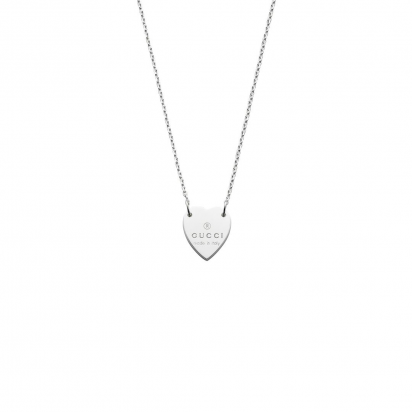 gucci trademark heart necklace