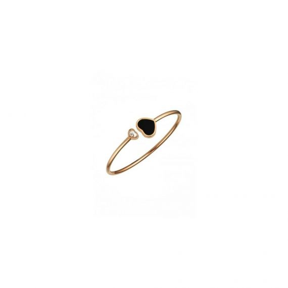18ct Rose Gold Happy Hearts Bangle