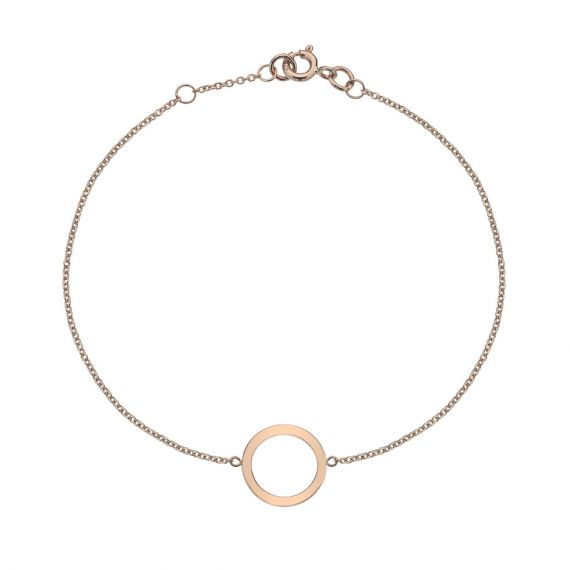 9ct Rose Gold Circle Bracelet