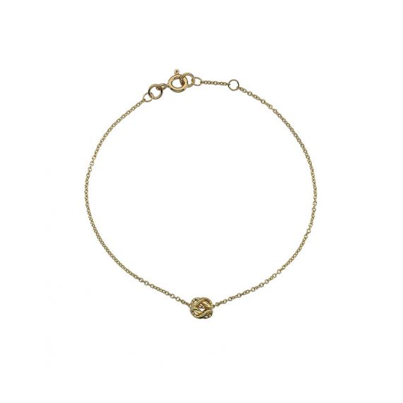 9ct Yellow Gold Infinity Bead Bracelet