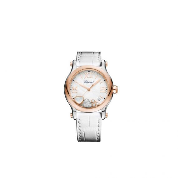 Happy Sport Steel and Rose Gold 36mm Watch