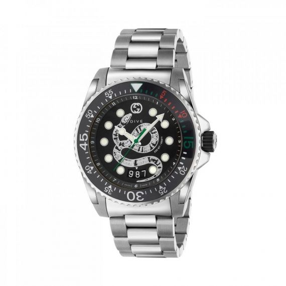 Dive XL Steel Snake Dial Watch