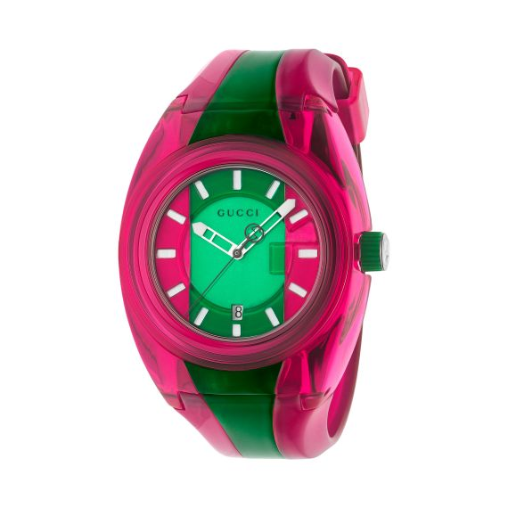 Sync Quartz Pink and Green Watch