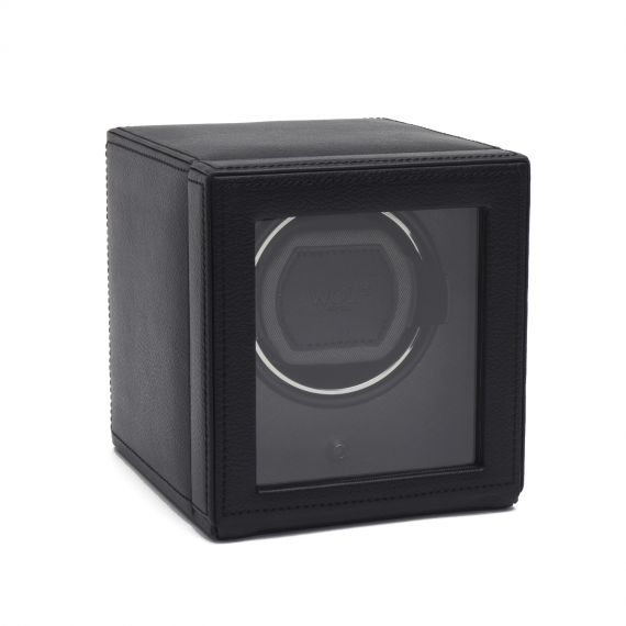 Cub Single Watch Winder with Cover Black