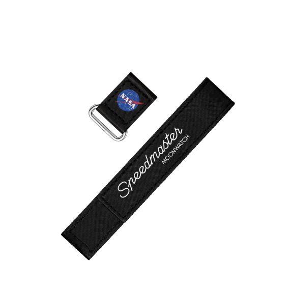 2-piece black Speedmaster Moonwatch VELCRO® strap