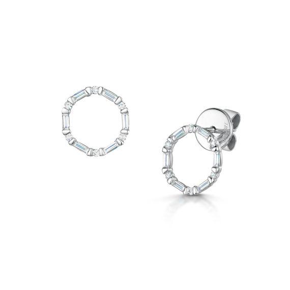 0.35ct Interstellar Circle Stud Earrings