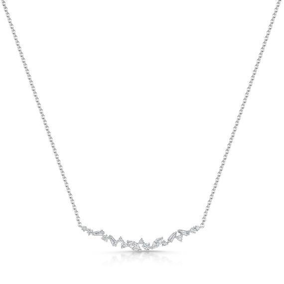 18ct White Gold Interstellar Necklace