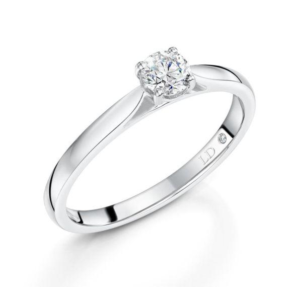 0.31ct18ct White Gold Brilliant-Cut Diamond Ring