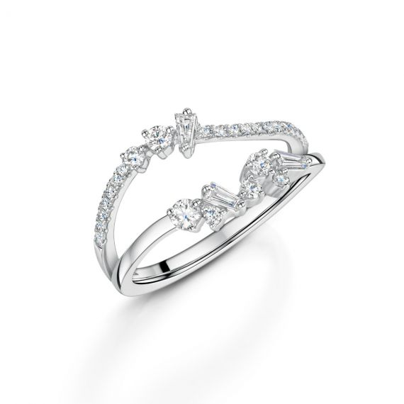 Platinum Interstellar Diamond Ring