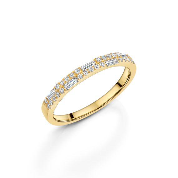 18ct Yellow Gold Nova 2 Row Ring