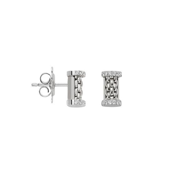 Flex'It Essentials 18ct White Gold and Diamond Studs