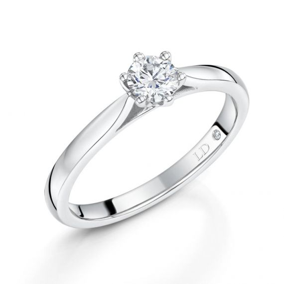 18ct White Gold Brilliant-Cut Diamond Ring