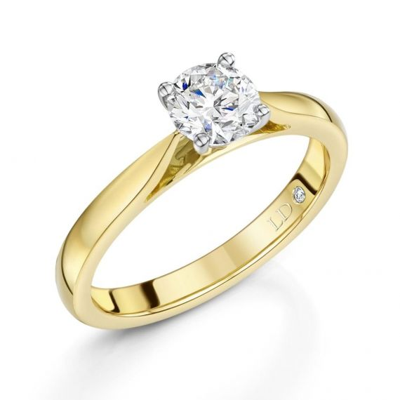 0.72ct 18ct Yellow Gold Brilliant-Cut Diamond Ring