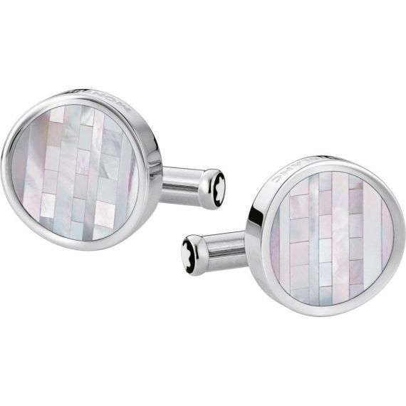 Heritage Steel and Mother of Pearl Cufflinks
