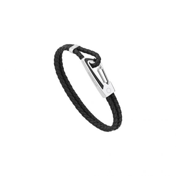 Woven Black Leather Star Bracelet