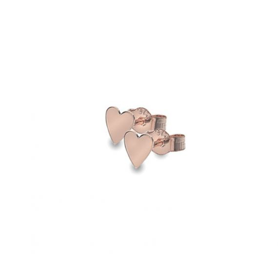 9ct Rose Gold Small Heart Studs