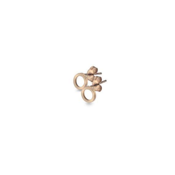 9ct Rose Gold Circle Stud Earrings
