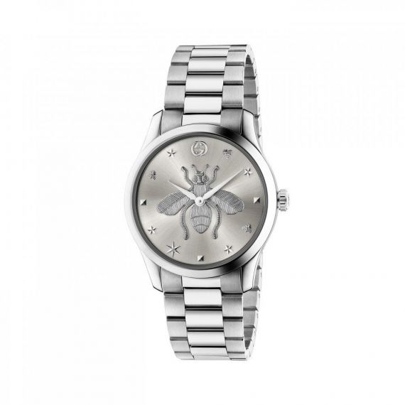 G-Timeless Quartz Watch with Silver Bee Dial Watch