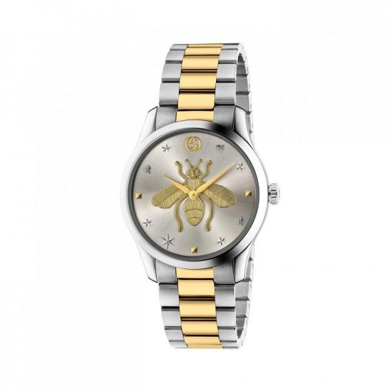 G-Timesless Steel and Gold Plate Quartz 38mm Watch