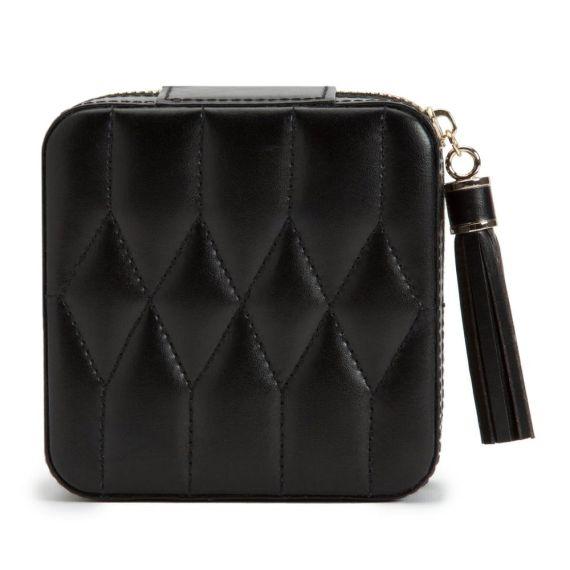 Caroline Leather Travel Jewellery Case Black