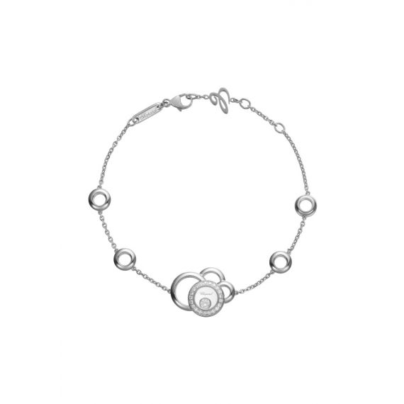 18ct White Gold Happy Diamonds Bracelet