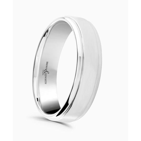 18ct White Gold 4mm Wedding Ring
