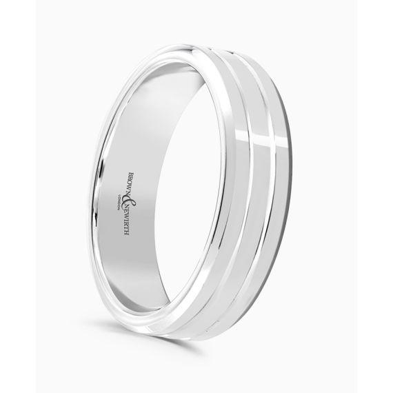 Platinum 4mm Wedding Band