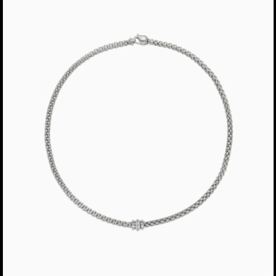 Flex'It Solo18ct White Gold and Diamond Necklace