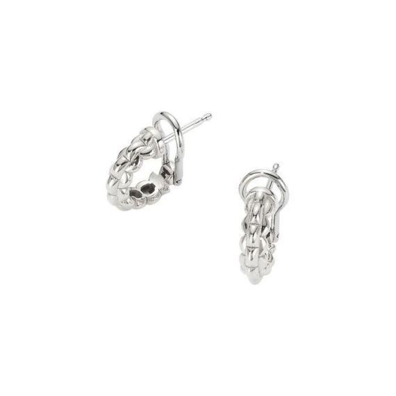 Flex'It EKA Tiny 18ct White Gold Hoop Earrings