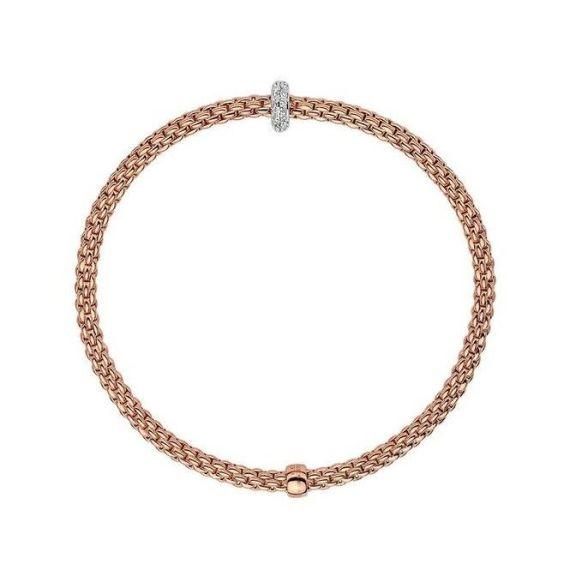 Flex'It Prima 18ct Rose Gold and 0.18ct Diamond Bracelet