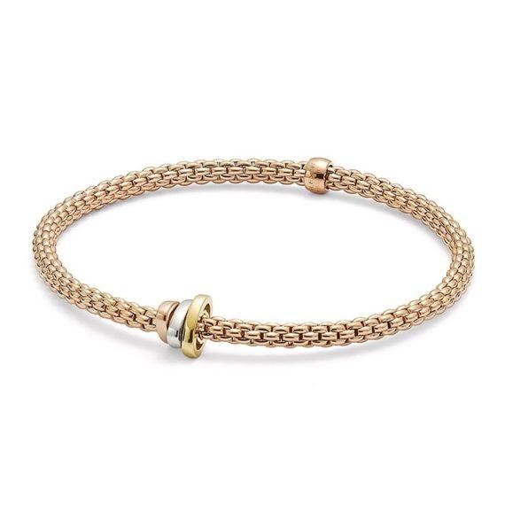 Flex'It Prima 18ct Rose Gold with 3 Rondels