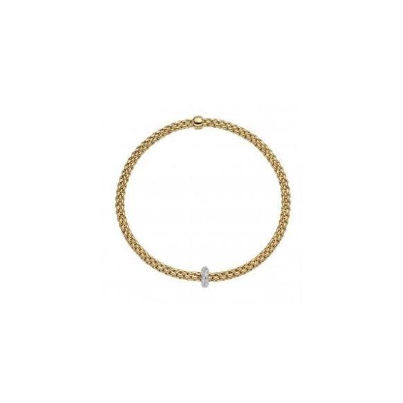 Flex'It Prima 18ct Yellow Gold and 0.18ct Diamond Bracelet