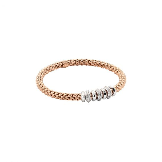 Flex'It Solo 18ct Rose Gold and 0.50ct Diamond Bracelet