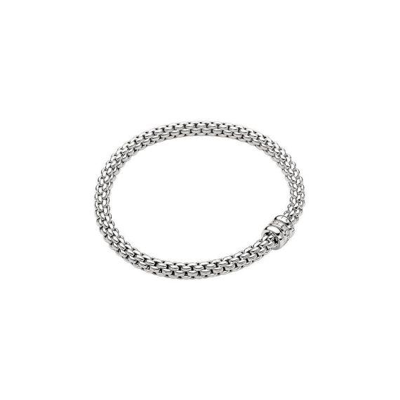 Flex'It Solo 18ct White Gold and 0.10ct Diamond Bracelet