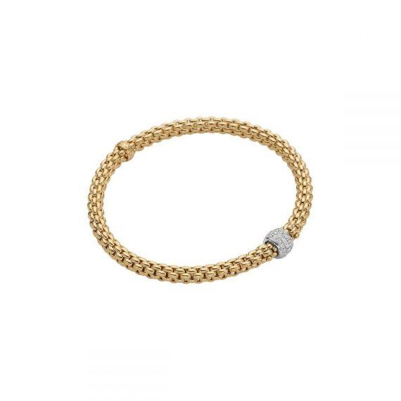 Flex'It Solo 18ct Yellow Gold and 0.29ct Diamond Bracelet