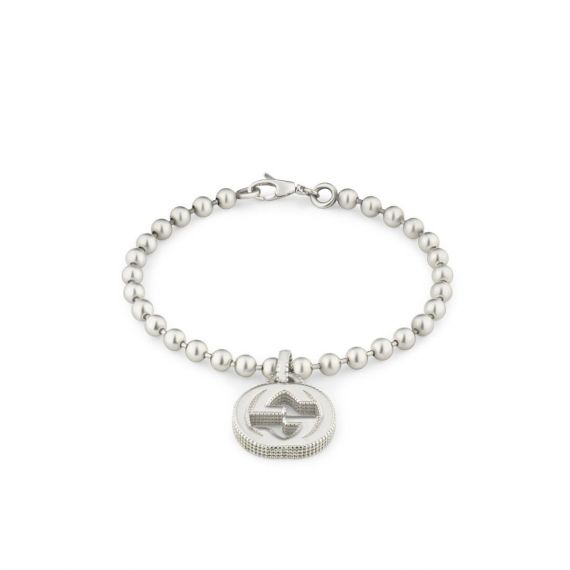 Interlocking G Silver Boule Bracelet - Size 18cm