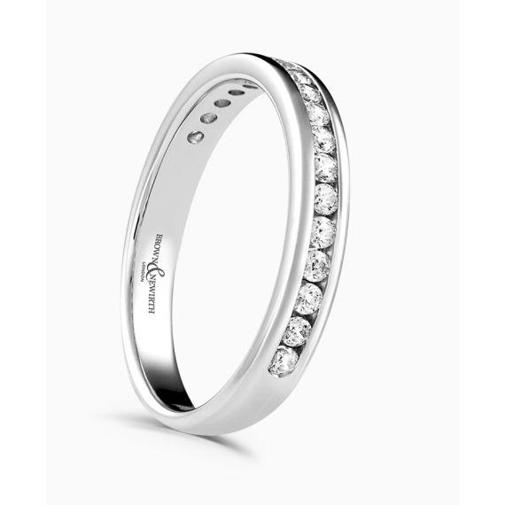 18ct White Gold Brilliant Cut Diamond Wedding Ring
