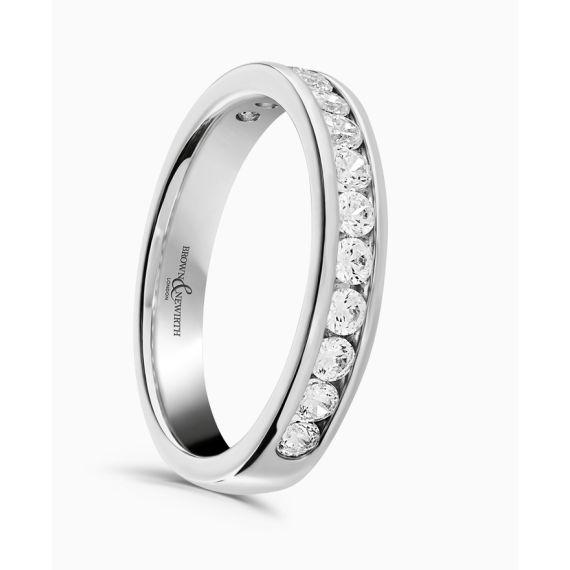 Platinum Brilliant Cut Diamond Wedding Ring