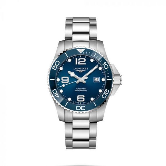 HydroConquest Steel and Ceramic 43mm Automatic Watch