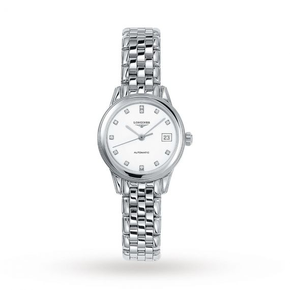 Flagship Stainless Steel 26mm Automatic White Dial Watch