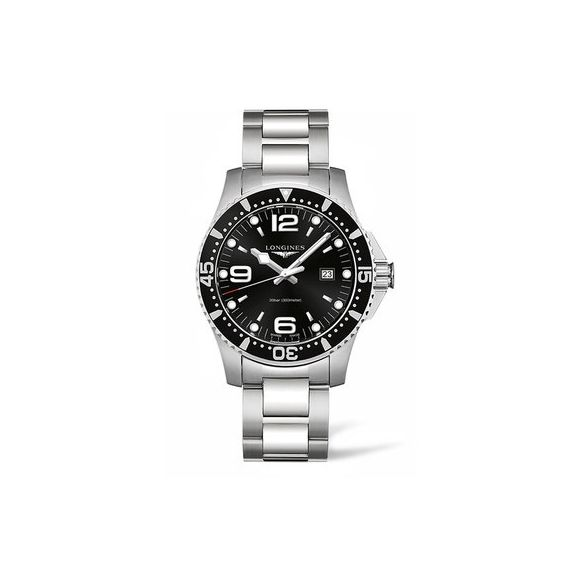 HydroConquest Steel 44mm Quartz Bracelet Watch