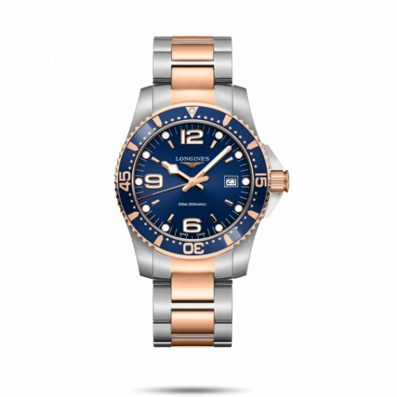 HydroConquest Steel and Rose Gold PVD 41mm Quartz Watch