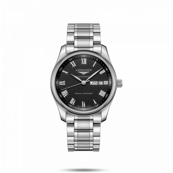 Master Collection Steel 40mm Automatic Black Dial Watch