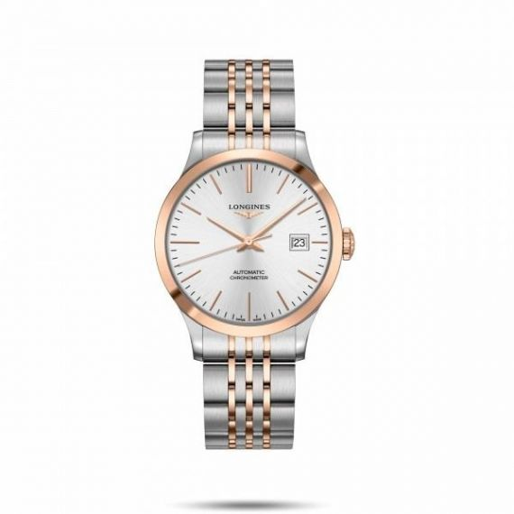 Record Collection Steel and Rose Gold PVD 38.5mm Automatic Watch