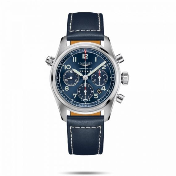 Spirit Collection Steel 42mm Automatic Chronograph Strap Watch