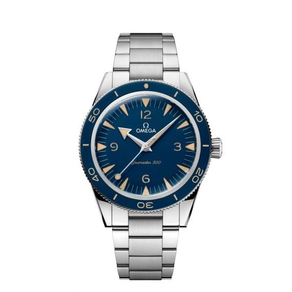 Seamaster 300 Stainless Steel 41mm Co-Axial Master Chronometer Blue Dial Watch