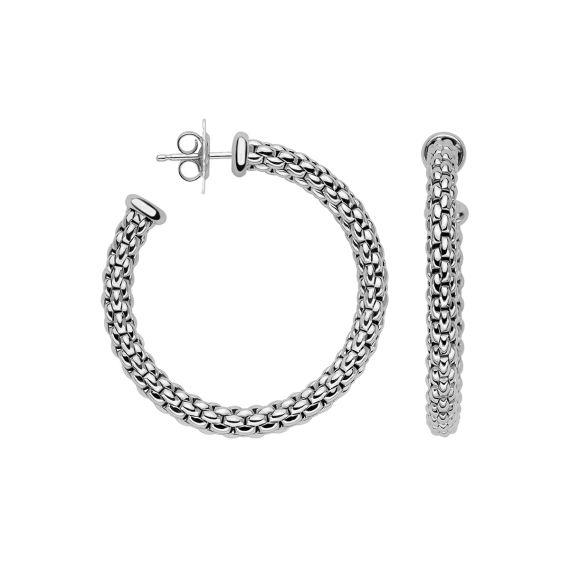 Flex'It Essentials 18ct White Gold Hoops