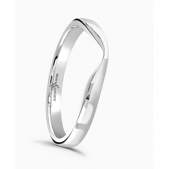 Platinum Shaped Wedding Ring