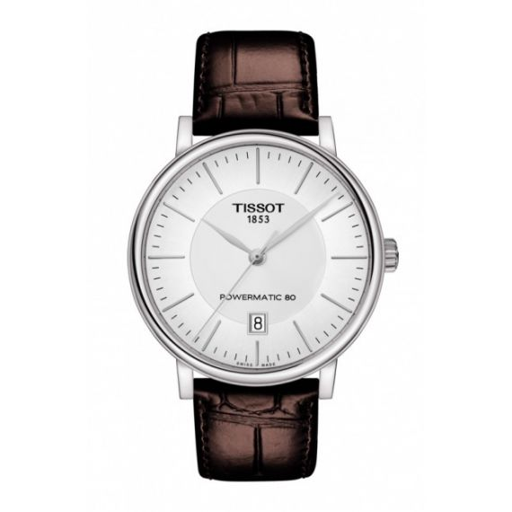 T-Classic Carson Powermatic 80 Steel 40mm Automatic Watch